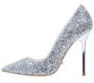 Decolleté - glitter silver
