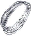 Acciaio inossidabile sette cerchi che si intersecano bracciale braccialetto da donna - G6027my1