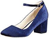 Buffalo Shoes 15p54-1 Velvet, Scarpe Col Tacco con Cinturino a T Donna