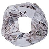 ManuMar Loop Sciarpa Snood Cravatta farfalla gialla Farfalla Donne Sciarpa Loop NUOVO! Sciarpa morbido come accessorio elegante!