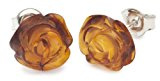 InCollections - Orecchini a lobo da donna con ambra, argento sterling 925, cod. 0100261991570