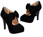 Zicac scarpe con tacco donna beige nero argentate comode (39, nero)