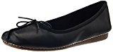 Clarks Freckle Ice, Ballerine Donna, colore nero (black leather), 38 EU