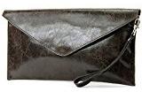 modamoda de - Made in Italy T106G Pochette in pelle liscia, da donna