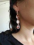 SunIfSnow - Deliziosi orecchini a pendente verticale con tre gocce, cristalli colorati