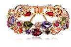 Cristalli Eterna Bracciale La vivacità 18ct oro rosa placcato lusso Swarovski piccolo al grande formato