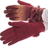 Sakkas Sophie Ombre lavorato a maglia pelliccia sintetica polso band touch screen Guanti Capable