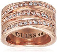 Guess–Anello da donna in metallo lega vetro bianco UBR51430