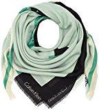 Calvin Klein No4H Scarf, Sciarpa Donna, Verde (Aqua Multi), Taglia Unica (Taglia Produttore: OS)