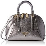 Guess Lady Luxe Mini Dome Satchel Borsa a Mano, Donna, Argento (Silver)