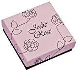 Jodie Rose Donna    placcato oro Rotonda   rosso Cristallo FASHIONEARRING