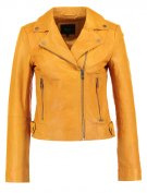 ADRIANA - Giacca di pelle - rugby yellow
