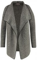 Cardigan - black/taupe