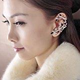 TrendyWorld Lady's Leaf Shape Crystal Resin Ear Cuff Left Ear