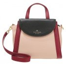 ADRIEN - Borsa a mano - pressed powder/merlot/black