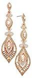 Rosemarie Collections da donna stile Art Deco di cristallo sfaccettato orecchini Statement (Oro Rosa)