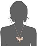 VICKISARGE Collana da Donna Placcato Oro Cristallo Nero Quadrato 42.5cm