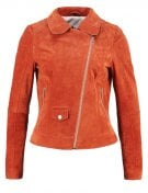 GINA - Giacca di pelle - burnt orange