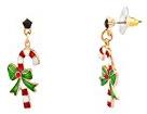 Lux accessori Candycane Natale orecchini pendenti