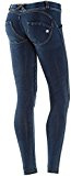 Freddy WR.Up Women' s Skinny a vita bassa, effetto Denim con