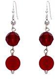 Valentina - Orecchini con vetro di Murano originale, colore: Rosso opaco