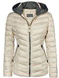 Giubbino trapuntato da donna, per autunno-inverno, giacca corta con cappuccio, da sci