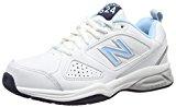 New Balance Wx624Wb4 - entrenamiento/Correr de Cuero Mujer, Blanco - Blanco (White/Blue), 38 EU (5.5 UK)