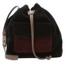 Borsa a tracolla - black/taupe/burgundy