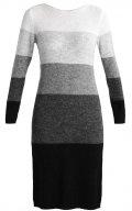 Vestito di maglia - grey steel/black