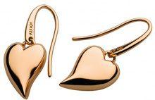 Kit Heath-Collana in argento Sterling placcata in oro rosa e Lustful-Orecchini pendenti a forma di cuore