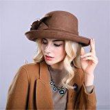 Donna Ragazze Moda Autunno Inverno A A Tesa Larga Fiore Cappello Di Panama Cappello Di Feltro