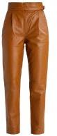 GOLDENBERG - Pantaloni di pelle - terra tan