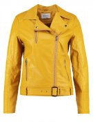 JACKY - Giacca in fintapelle - dark yellow