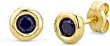 Miore-Orecchini in oro bianco 375  rubino taglio rotondo, oro giallo, colore: giallo
