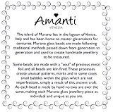 Amanti Venezia-Bracciale Aqua a forma di cilindro con vortici Orecchini pendenti in vetro di Murano, colore: nero