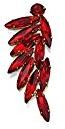 Fiorelli Donna    ottone Ovale   rosso altro FASHIONEARRING