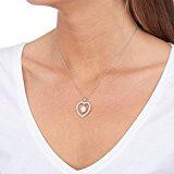 Bella Pearls Donna  925  argento Rotonda Goccia perla cinesa da coltivazione bianco Perla Zirconia cubica FINENECKLACEBRACELETANKLET