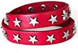 2C - uomo donna braccialetto in pelle Bracciale in pelle Surfer STAR 2-fila di stelle
