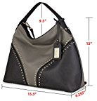 La Clé la-009 Rivet Studded Hobo borsetta Cross Body Bag