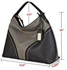 La Clé la-009Rivet Studded Hobo borsetta Cross Body Bag