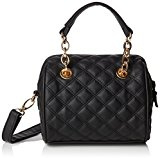 New LookMila Quilted Mini Bowler - Borsa a tracolla donna