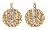 Orphelia - Orecchini pendenti da donna con zirconia cubica, metallo placcato oro, cod. PO-028