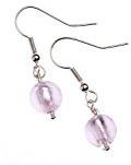 The Jewellery Factory - Orecchini in stile Murano con perla tonda, colore: Rosa