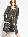 Motivi: cappotto donna in maglia con bordi sfrangiati.