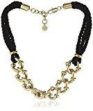 Dyrberg/nucleo collana da donna in metallo Placcato Oro Tessuto Swarovski-cristallo 336246