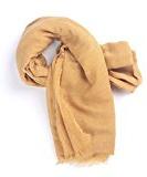Lady unisex Sciarpa Solid colore puro Frange lunghe Grande oversize in cotone protezione solare dello scialle involucro della spiaggia Infinity 75 x 63 pollici
