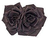 Johnny Loves Rosie Alexa clip di capelli con 2 rose di seta giapponesi nero