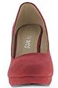 Scarpe donna tacchi rosso 10cm flange e piattaforma suede guardare