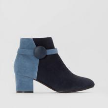 Boots in pelle dettaglio bottone