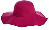 Vbiger Cappello Fedora per Donna Invernale Cappello a tesa larga